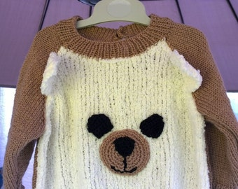 Child Teddy Bear sweater , size 12 month
