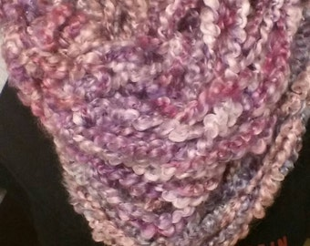 Purple Infinity Scarf (Thick)