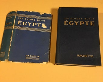 1956 Vintage Guide Book to Egypt, Fold-out Color Maps, Illustrations and City Plans