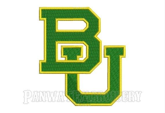 Size baylor bears logo embroidery designs machine