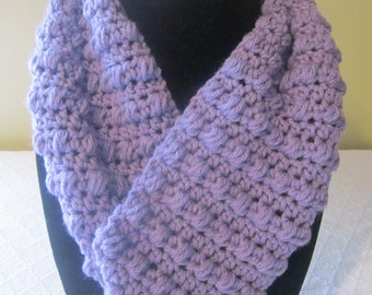 Lilac colored Infinity Scarf