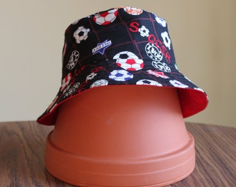 Reversible soccer Bucket Hat