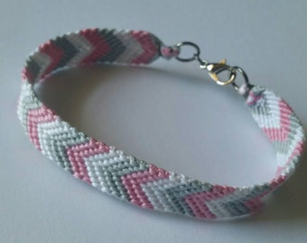 Chevron Bracelet with Silver Clasp