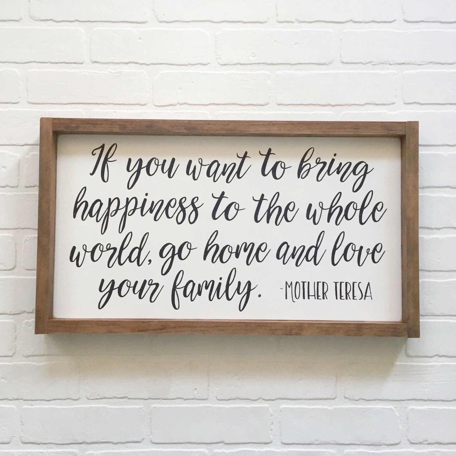 Inspirational Quotes On Wood: 13x24 Mother Teresa Quote Wood Sign Family By