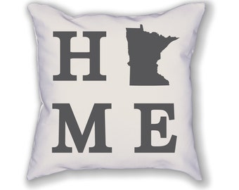 Minnesota Home State Pillow