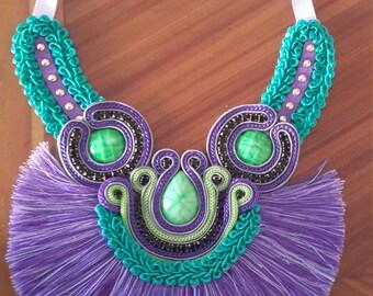 ethnic necklace fringed