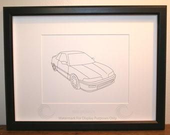 Acura Integra Picture, Framed, Digital Art, Cars