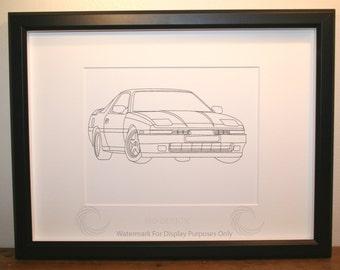 Toyota Supra Picture, Framed, Digital Art, Cars