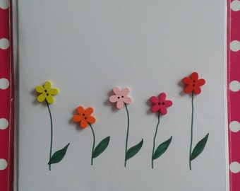 Five Flower Greeting Card