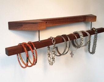 Walnut wood Bracelet / Scarf Holder / Display