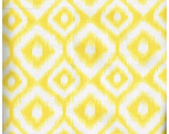 Fat Quarter, YL969FQ, , 100% Cotton Fabric, Yellow and White Ikat Print, Great For Quilting, Crafts, and more