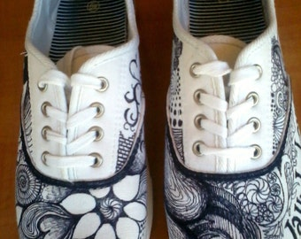 One-of-a-Kind Canvas Sneakers