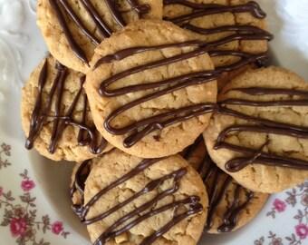 Chocolate Peanut Butter Cookies-Homemade-Chocolate Cookie-Peanut Butter Cookie