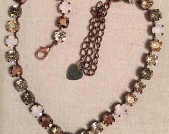 Vintage Rose Full Crystal Necklace