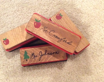 Personalized erasers. Great teacher gift