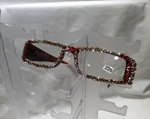 2.25 Swarovski Crystal Reading Glasses (crystal, silk & Padparadscha)