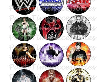 WWE (A) Wrestling Edible Cupcake/Cookie Toppers for Birthday or Other Special Occasion!