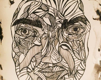 My View Abstracted- Original Ink Drawing