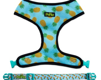 Reversible Breathable Dog Harness by Printz Pet Supply- Maui Gold