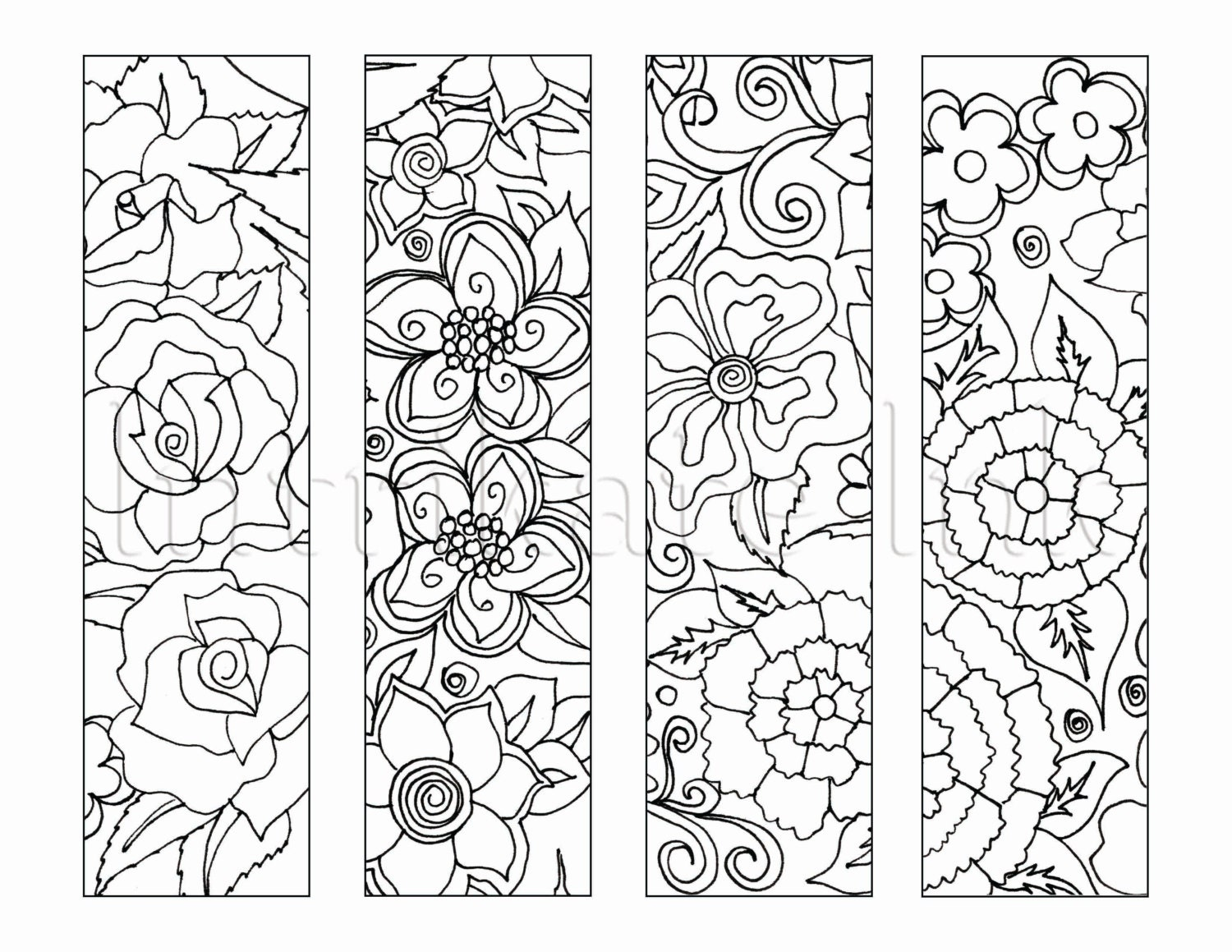 Influential image regarding printable bookmarks to color