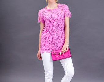 Mid-sleeve tunic long top