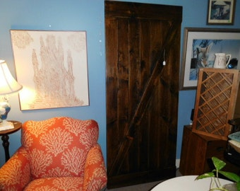 distressed, walnut stained and varnished