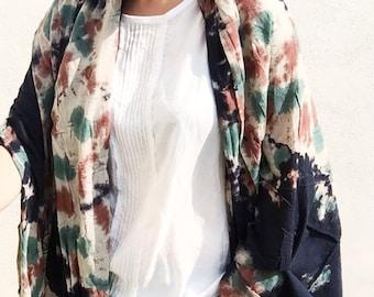 Oversized Tie Dye Scarf Shawl - huge cotton scarf, tie dye scarf, Coachella, bohemian scarf, festival fashion, cotton sarong shawl, gift