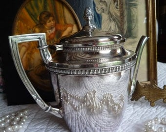 Silver plated teapot.