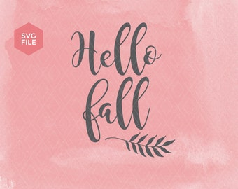 Fall svg, hello fall svg, autumn svg, thanksgiving svg, fall vector file, cutting fall svg, laurel wreath svg, fall quote autumn leaves fall