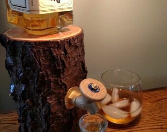 Log Liquor Dispenser - New and Improved  *Patent Pending*