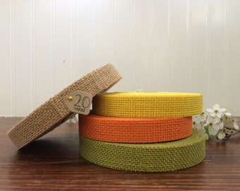 "7/8"" Spring Jute Burlap Ribbon - 5, 10, 20 yards - HBCA12S4"