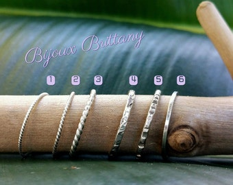 Mix and Match 925 Sterling Silver Stackable Rings Skinny Rings