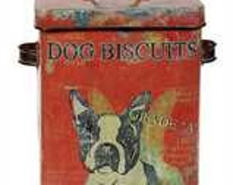 Dog Biscuit Tin Container