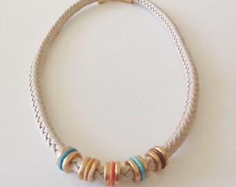 Five Color Pieces Necklace
