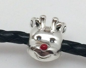 New Pandora Rudolf Red Nose Reindeer Charm