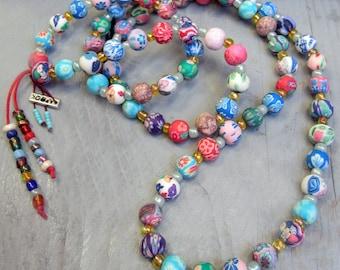 Bright multicolor necklace