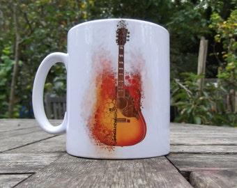 Exploding Gibson Guitar Mug