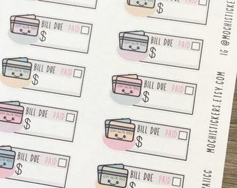 Kawaii Credit Card Planner Stickers (MS-KAWAIICC)