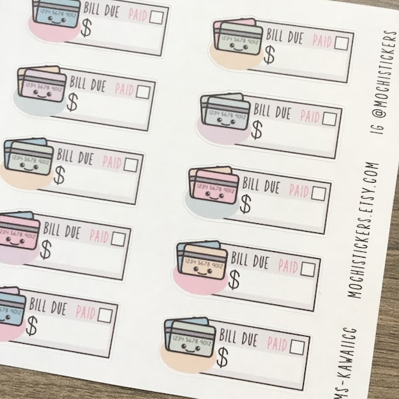 kawaii credit card planner stickers ms kawaiicc. Black Bedroom Furniture Sets. Home Design Ideas