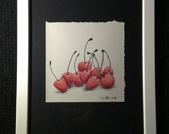 Mini Drawing #10 - Cherries