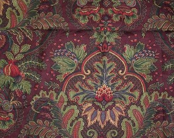 Ancient King Merlot Raymond Waites Jacquard Fabric Printed Decorative Home Decor
