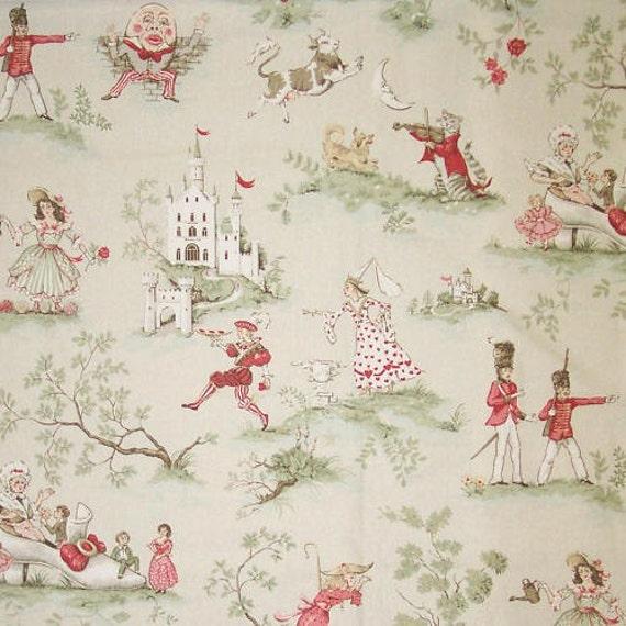 Over the moon light greenish beige children baby nursery for Children s home decor fabric