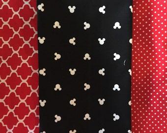 Mickey Burp Cloth Red