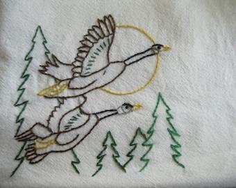 Embroidered Flour Sack Dishcloth