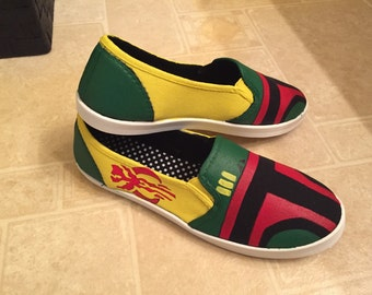 Hand painted Boba Fett Womens Shoes