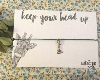 Giraffe Gift Friendship Bracelet Keepsake