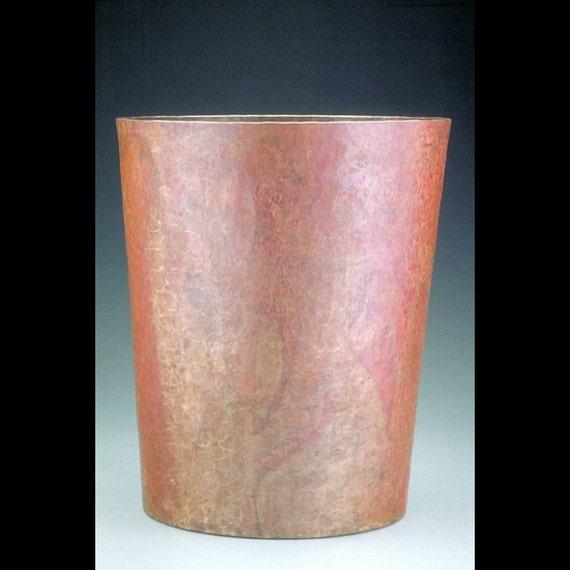 Copper waste basket by cobrecopper on etsy - Copper wastebasket ...