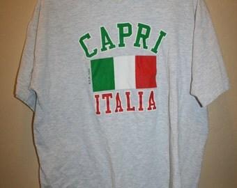 Vtg Capri Italia T Shirt M/L