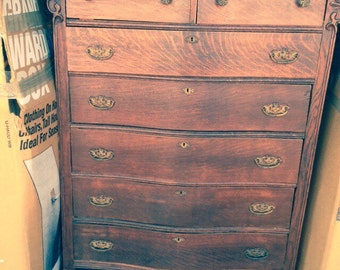 High boy dresser turn of the century
