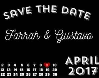 Wedding Save-The-Date Prints, Save the Date, Save the Date cards, Save the Date invitation, customized, engaged, black and white, 4x6 prints